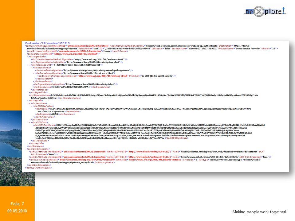 Making people work together! Folie 18 09.09.2010 API (IdP Communication)