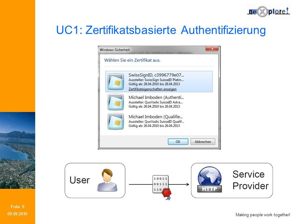 Making people work together! Folie 10 09.09.2010 UC2: Abfrage von Attributen beim IdP
