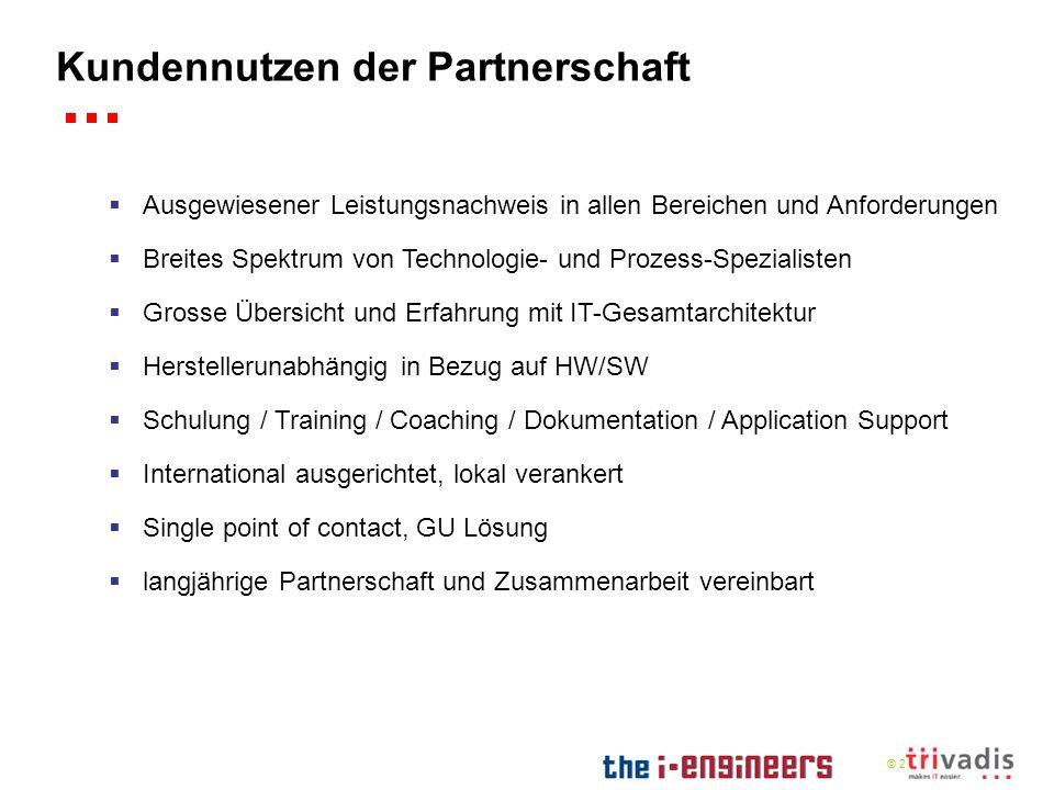 © 2009 Kundennutzen der Partnerschaft Ausgewiesener Leistungsnachweis in allen Bereichen und Anforderungen Breites Spektrum von Technologie- und Proze