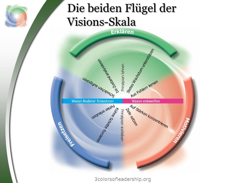 Vision entwerfen Vision Anderer freisetzen Ziele setzen Ist-Zustand analysieren Kühne Schritte forcieren Stetes Wachstum unterstützen Schwächen aufspü