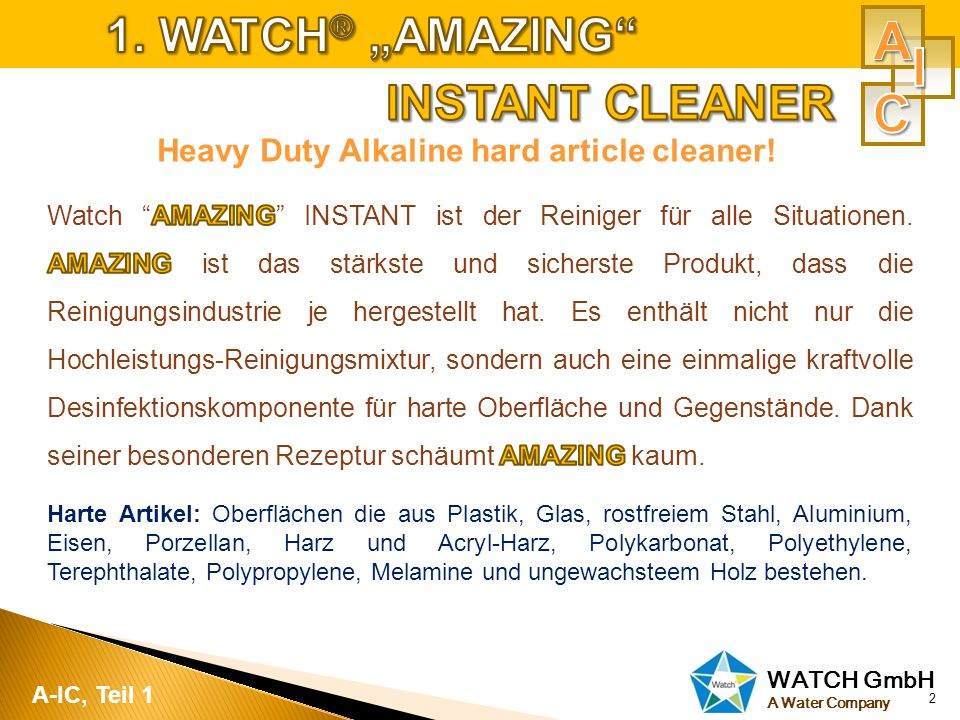WATCH GmbH A Water Company 2 A-IC, Teil 1