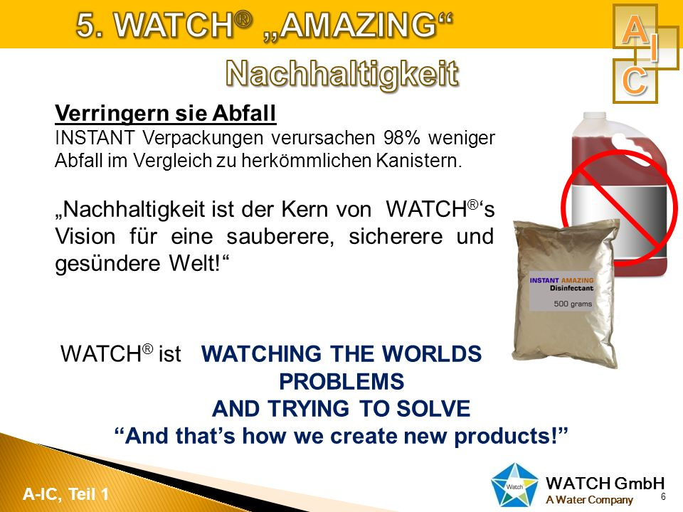 WATCH GmbH A Water Company 7 A-IC, Teil 1