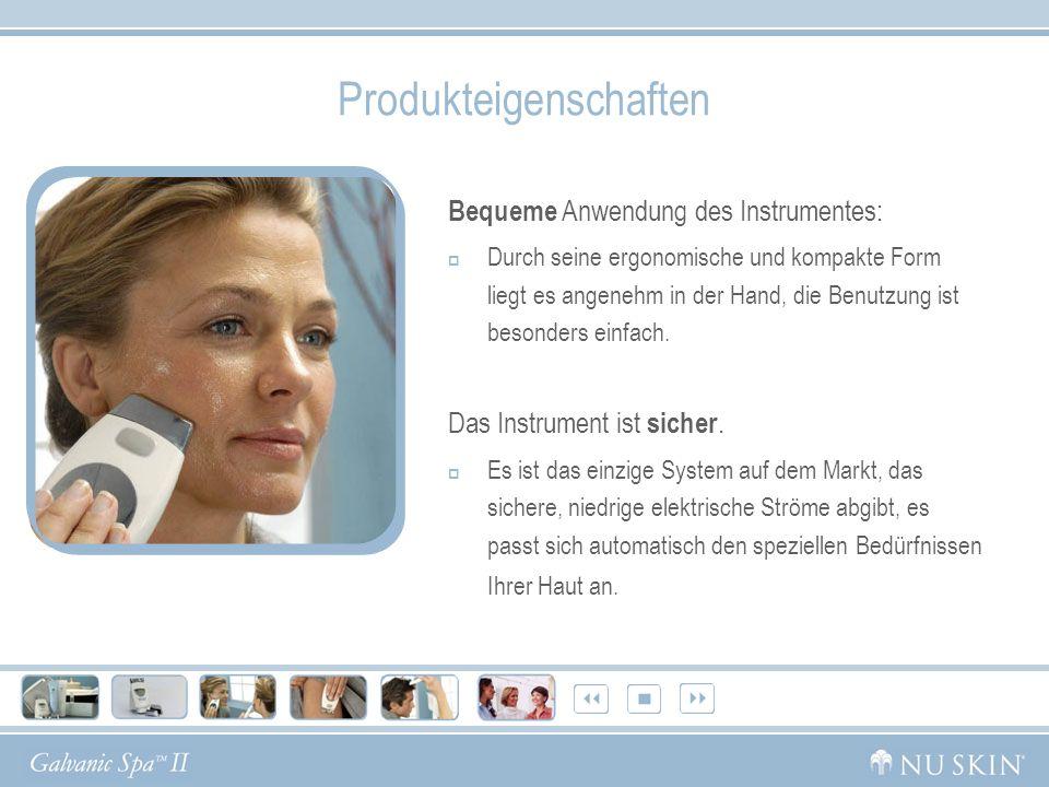 Produkteigenschaften Bequeme Anwendung des Instrumentes: Durch seine ergonomische und kompakte Form liegt es angenehm in der Hand, die Benutzung ist besonders einfach.