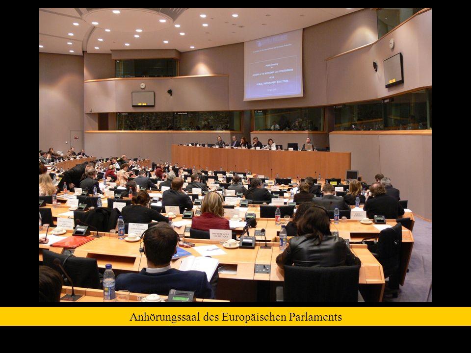 Anhörungssaal des Europäischen Parlaments