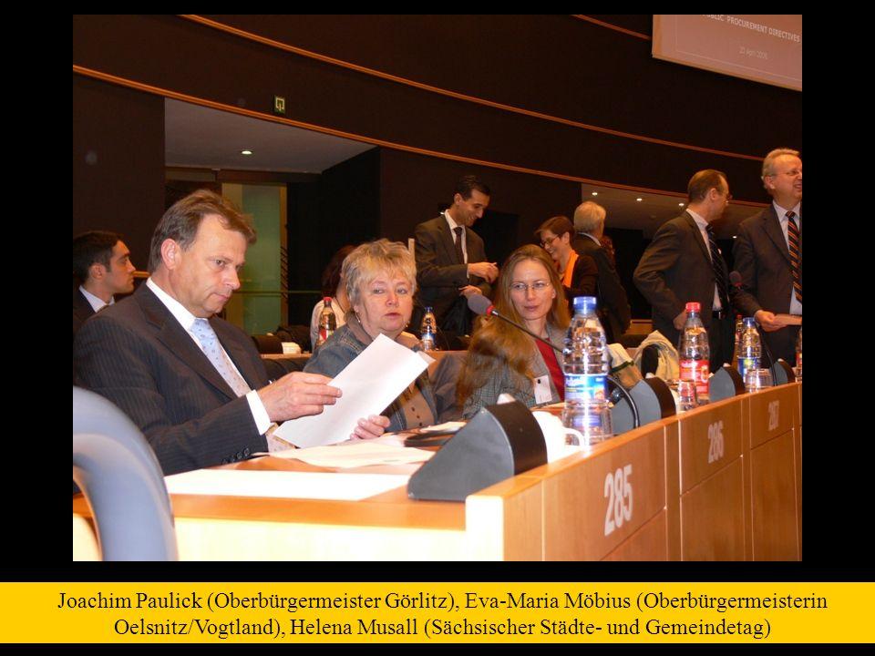 Joachim Paulick (Oberbürgermeister Görlitz), Eva-Maria Möbius (Oberbürgermeisterin Oelsnitz/Vogtland), Helena Musall (Sächsischer Städte- und Gemeinde