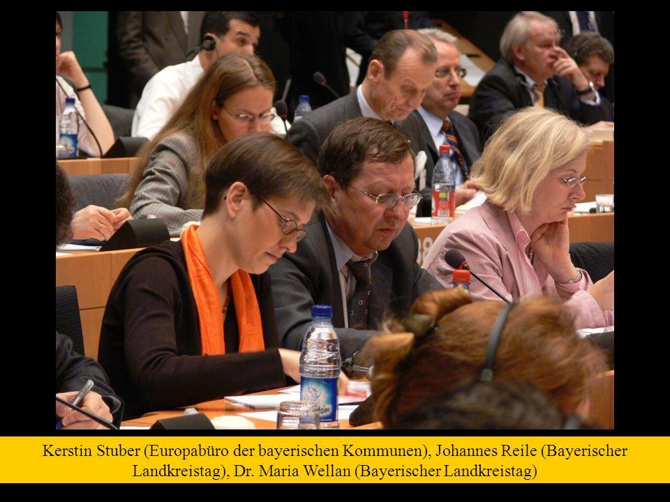 Kerstin Stuber (Europabüro der bayerischen Kommunen), Johannes Reile (Bayerischer Landkreistag), Dr. Maria Wellan (Bayerischer Landkreistag)