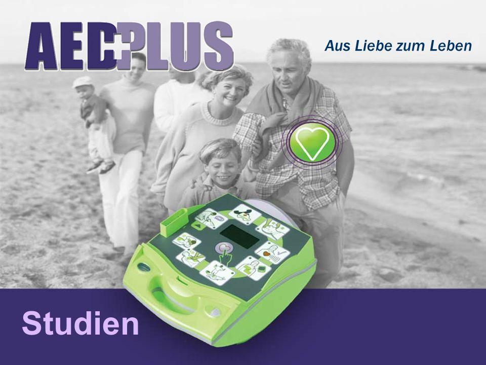 Nicht nur defibrillieren Sondern reanimieren Unwiderlegbarer Beweis: Ein AED für die vollständige Reanimation unterstützt sowohl die gesamte Rettungskette als auch die HLW ZOLL AED Plus - der einzig umfassende Ersthilfe-AED
