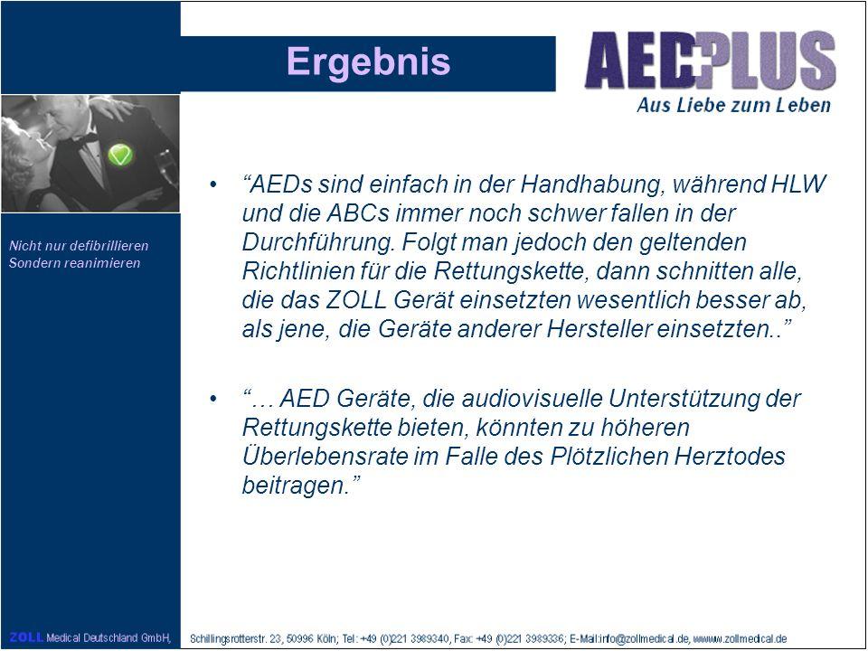 Nicht nur defibrillieren Sondern reanimieren Ergebnis AEDs sind einfach in der Handhabung, während HLW und die ABCs immer noch schwer fallen in der Du