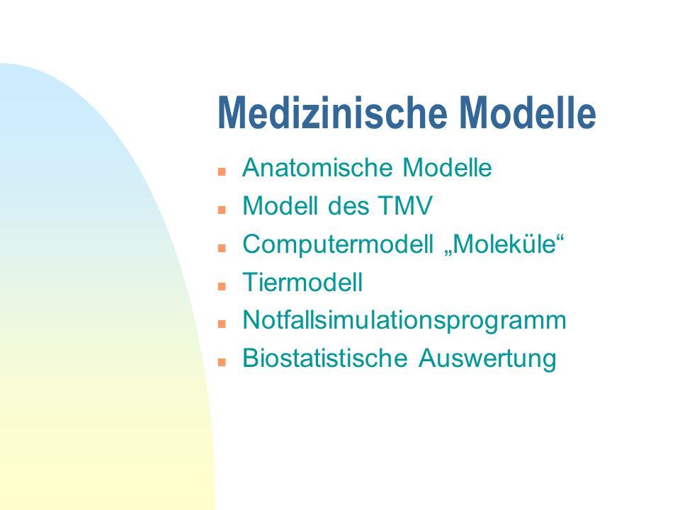 Überblick n Modelle im medizinischen Fachbereich n Versuch einer Abstraktion n Anwendungsmöglichkeiten in anderen Wissenschaften ZIEL: Erfolgreiches L