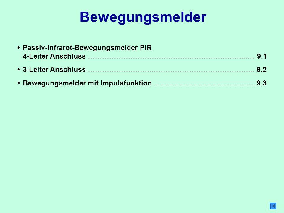 Bewegungsmelder 9.23-Leiter Anschluss ………………………..…………………………………... Passiv-Infrarot-Bewegungsmelder PIR 4-Leiter Anschluss …………………………………….…………………....… 3