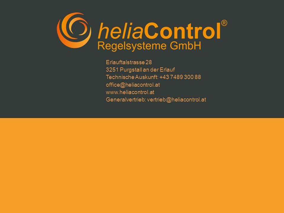 Erlauftalstrasse 28 3251 Purgstall an der Erlauf Technische Auskunft: +43 7489 300 88 office@heliacontrol.at www.heliacontrol.at Generalvertrieb: vert