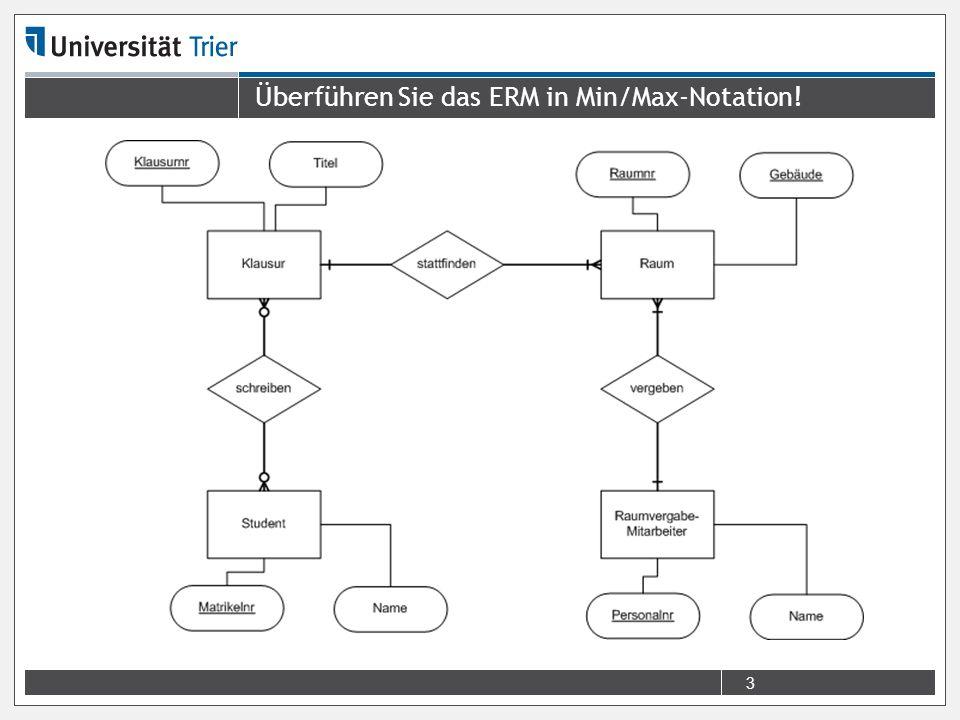 3 Überführen Sie das ERM in Min/Max-Notation!
