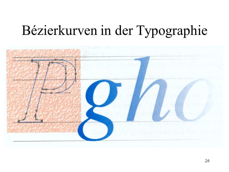 26 Bézierkurven in der Typographie