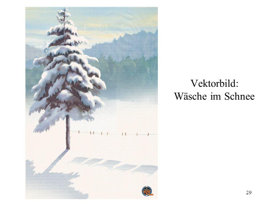 29 Vektorbild: Wäsche im Schnee