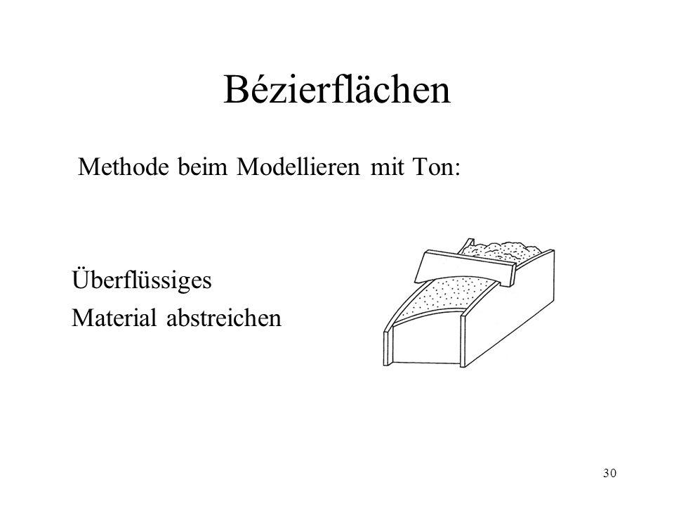 30 Bézierflächen Methode beim Modellieren mit Ton: Überflüssiges Material abstreichen