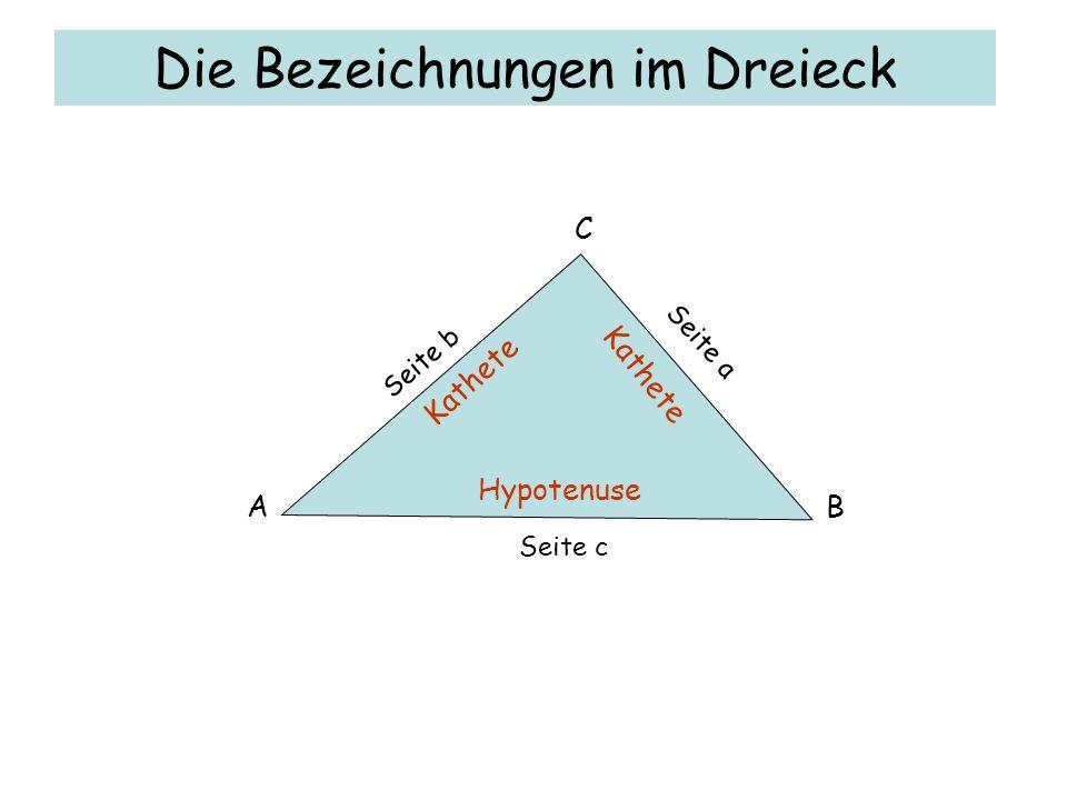 Das Dreieck der Ägypter 3 Teile 4 Teile 5 Teile Teilt man ein Dreieck so ein, entsteht ein rechtwinkliges Dreieck.