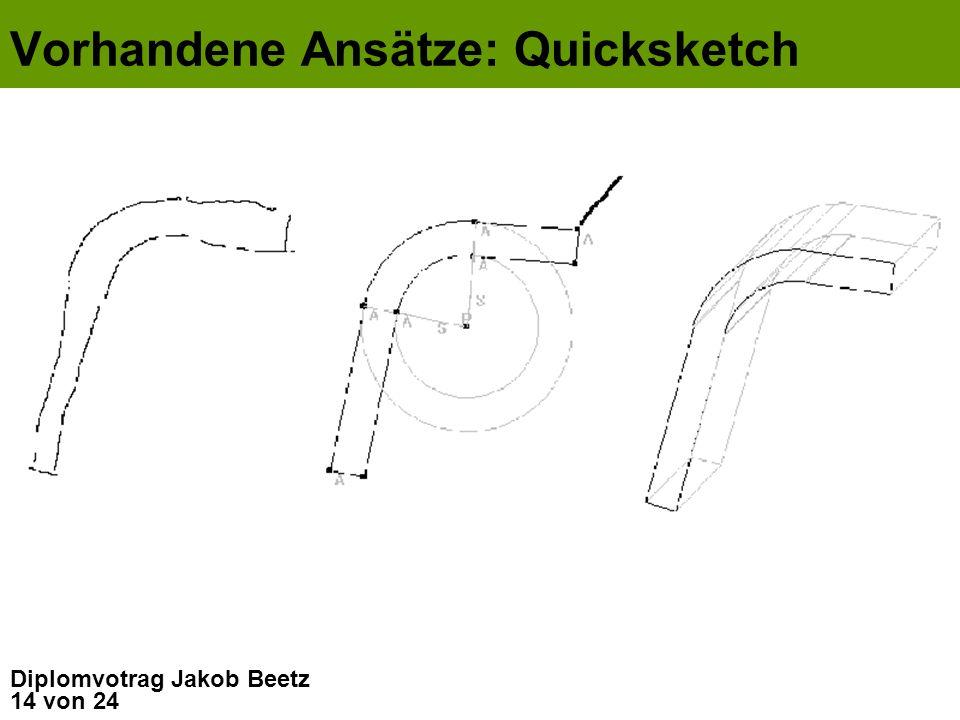 14 von 24 Diplomvotrag Jakob Beetz Vorhandene Ansätze: Quicksketch