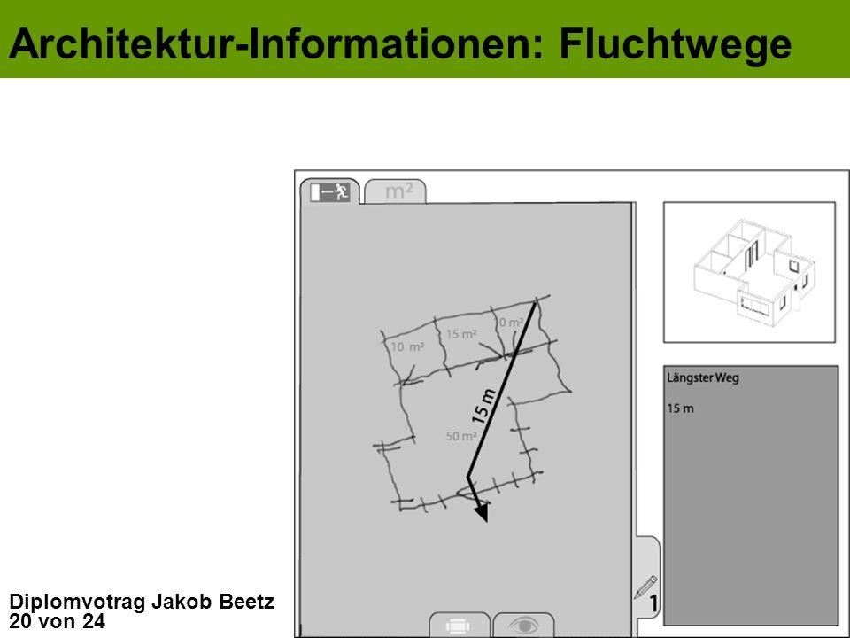 20 von 24 Diplomvotrag Jakob Beetz Architektur-Informationen: Fluchtwege