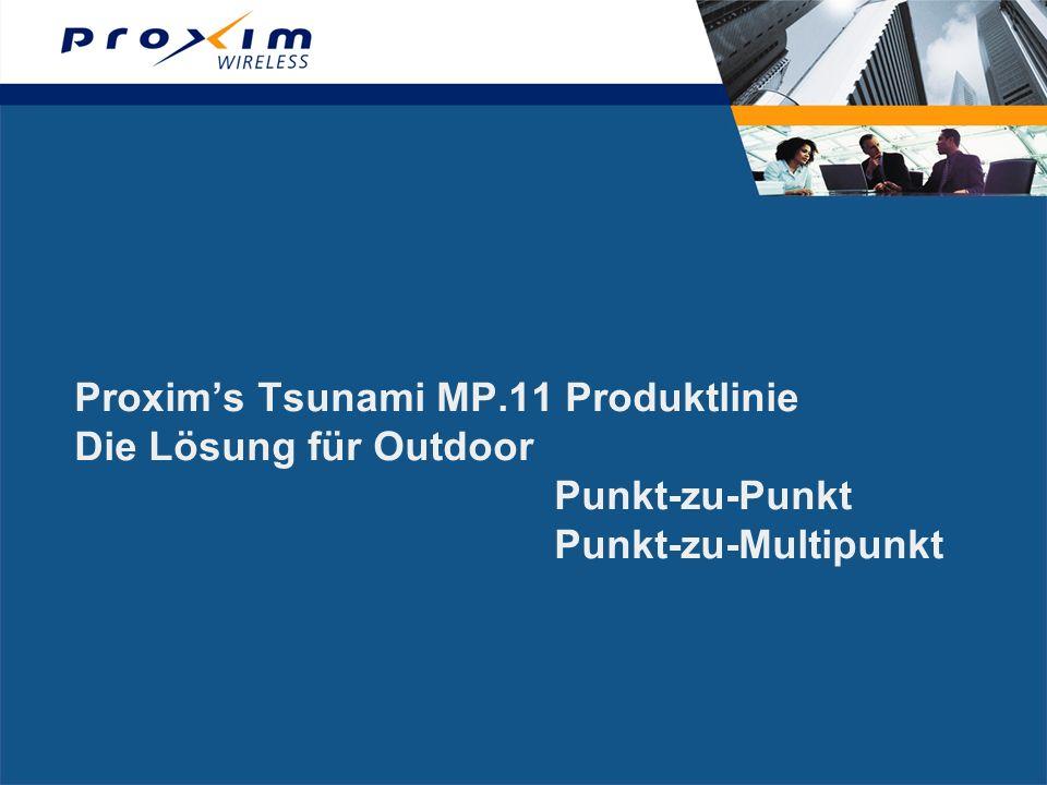 Proxims Tsunami MP.11 Produktlinie Die Lösung für Outdoor Punkt-zu-Punkt Punkt-zu-Multipunkt