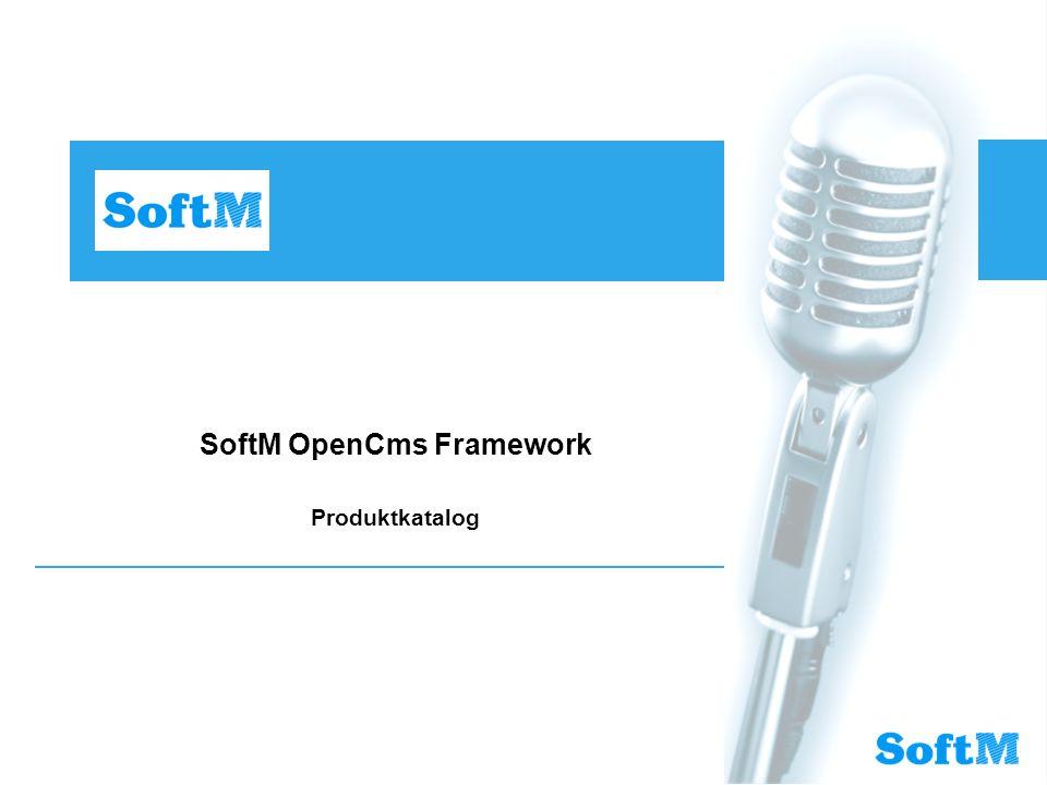 SoftM OpenCms Framework Produktkatalog