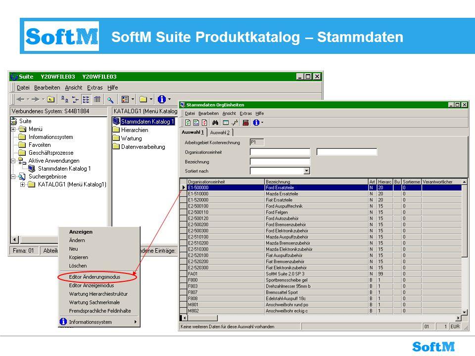 SoftM Suite Produktkatalog – Stammdaten