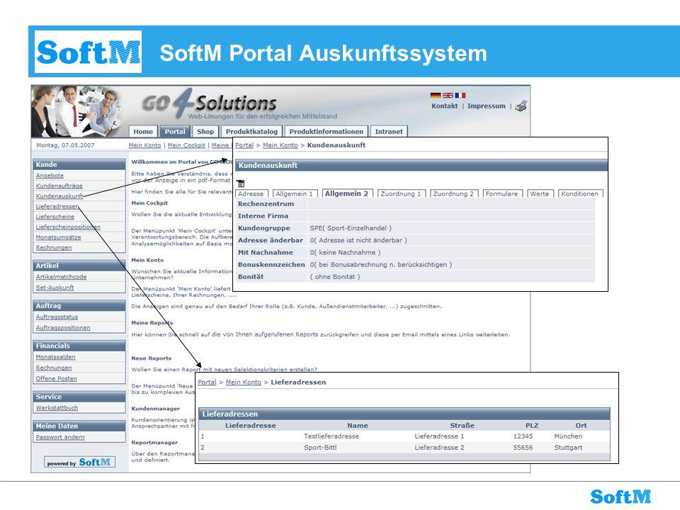 SoftM Portal Auskunftssystem