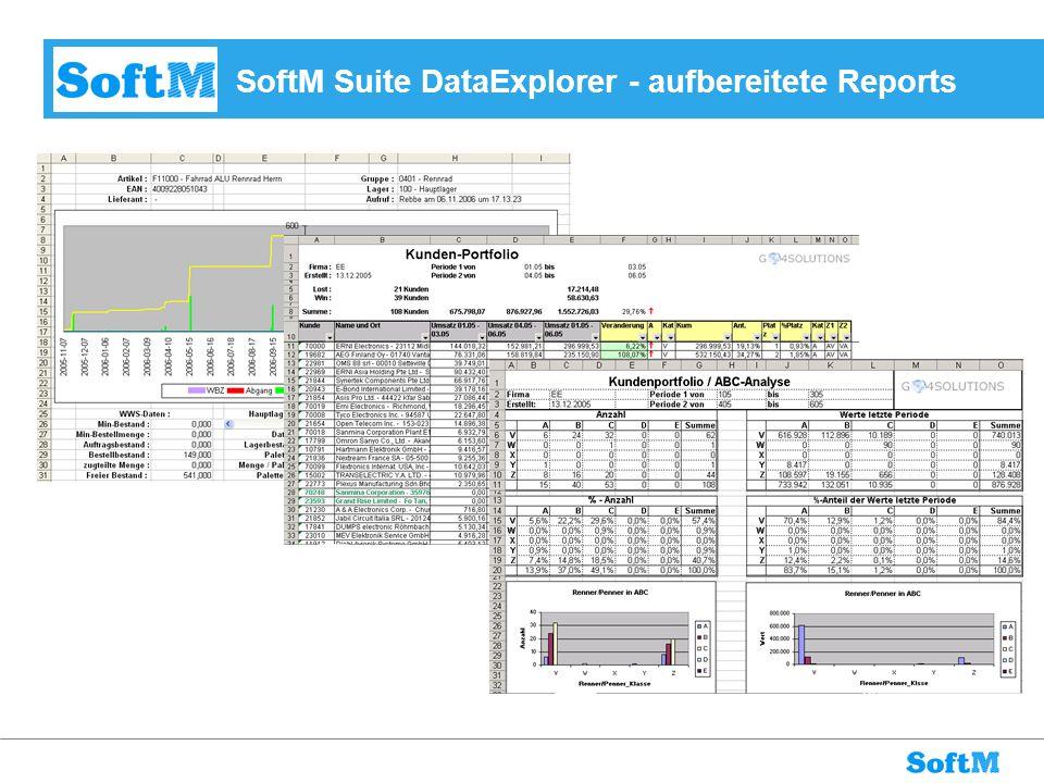 SoftM Suite DataExplorer - aufbereitete Reports