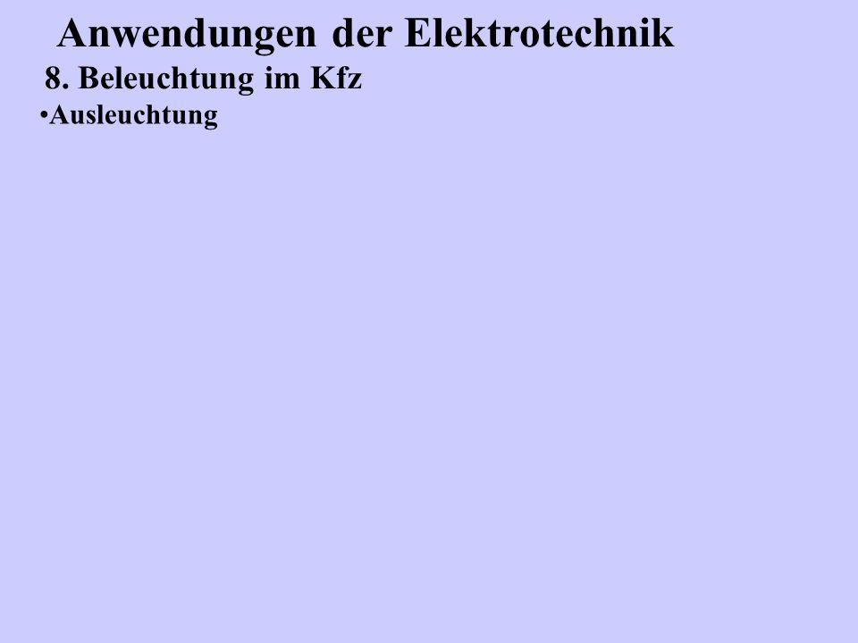 Anwendungen der Elektrotechnik 8. Beleuchtung im Kfz Ausleuchtung