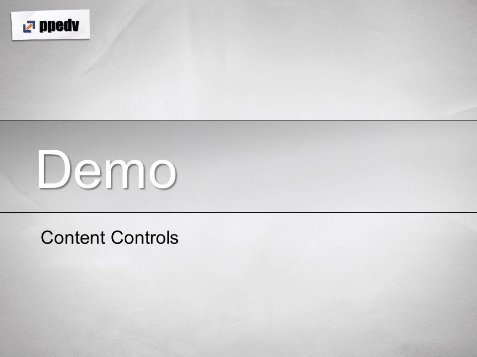 Demo Content Controls