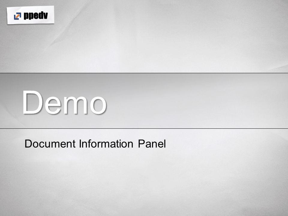 Demo Document Information Panel