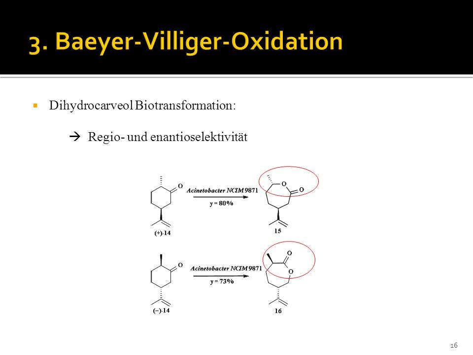 Dihydrocarveol Biotransformation: Regio- und enantioselektivität 16