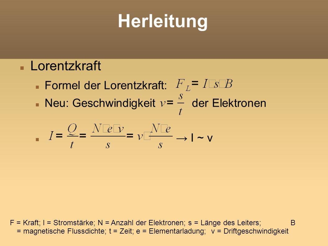 Herleitung Gültig für N Elektronen.