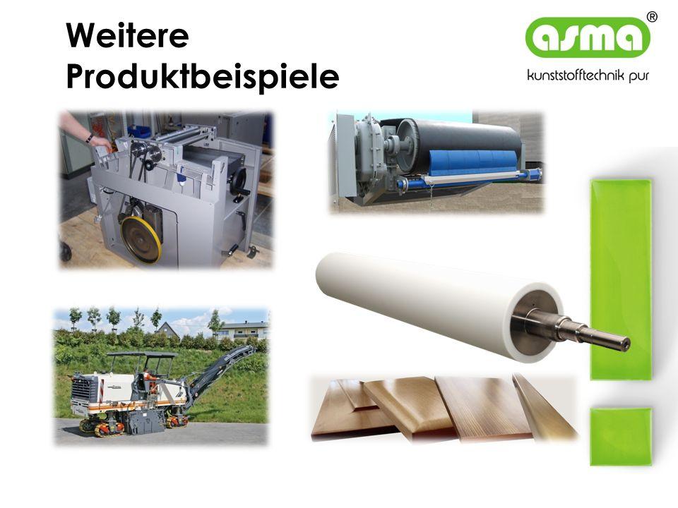 Weitere Produktbeispiele Reibradantrieb für Holzbearbeitungsmaschinen Kettenplatten für Asphaltfräsmaschinen