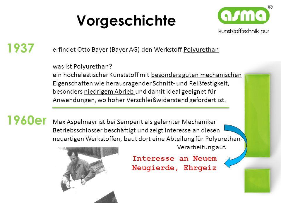 Vorgeschichte erfindet Otto Bayer (Bayer AG) den Werkstoff Polyurethan was ist Polyurethan? ein hochelastischer Kunststoff mit besonders guten mechani