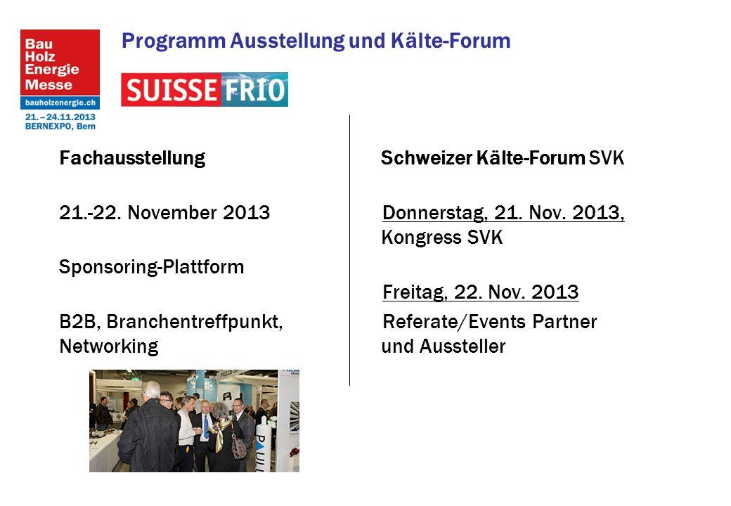 Programm Ausstellung und Kälte-Forum Fachausstellung 21.-22.