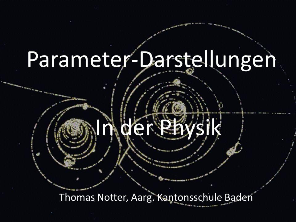 Parameter-Darstellungen In der Physik Thomas Notter, Aarg. Kantonsschule Baden