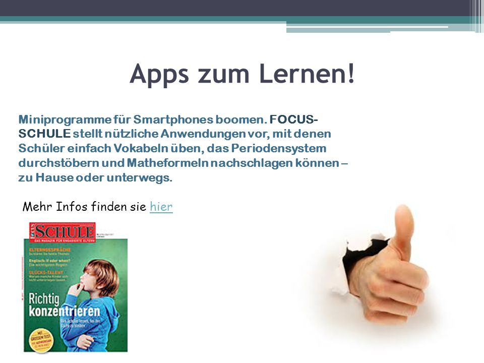 Apps für die Schule: 1.