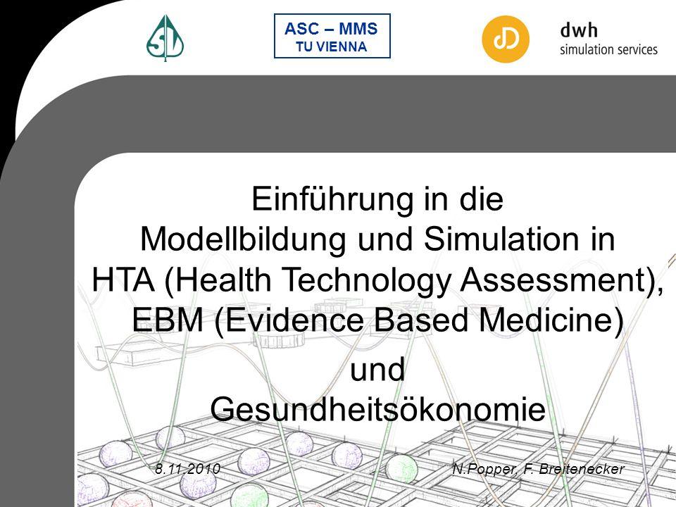 ASC – MMS TU VIENNA Modellierung – Notwendigkeiten Aufbereitung komplexer Inputdaten Evaluierung der bestmöglichen Modellierungstechnik Hybride Kombination der Teilmodelle Nachvollziehbarkeit der Lösung für alle interdisziplinären Partner