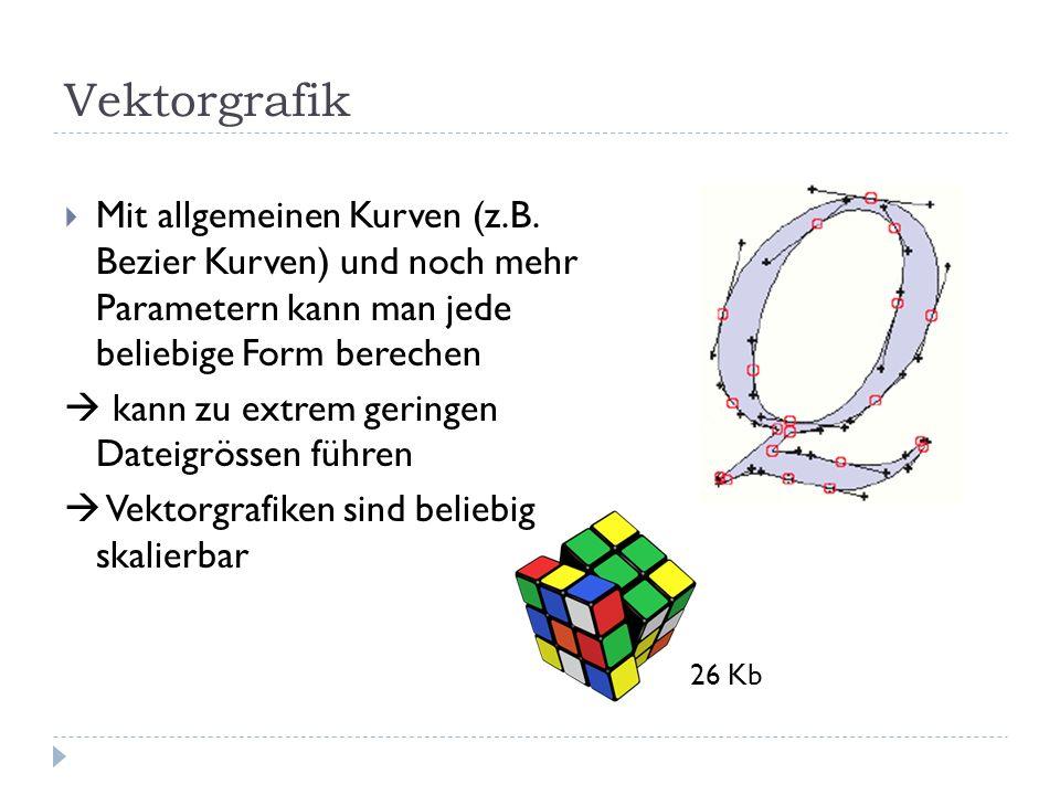 Vektorgrafik Mit allgemeinen Kurven (z.B.