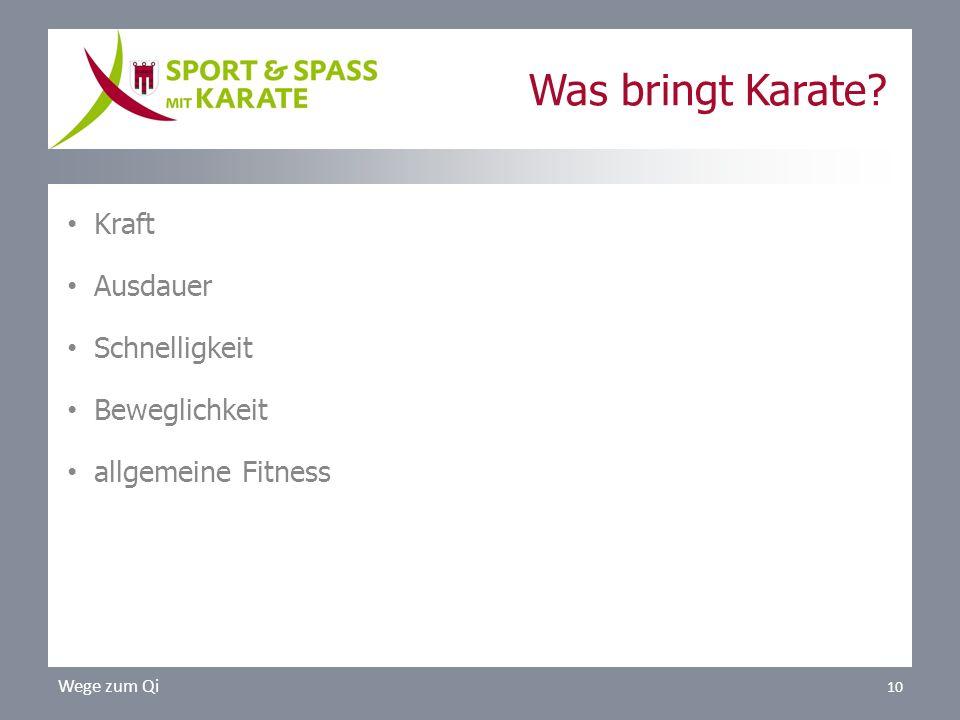 Was bringt Karate? Kraft Ausdauer Schnelligkeit Beweglichkeit allgemeine Fitness Wege zum Qi 10