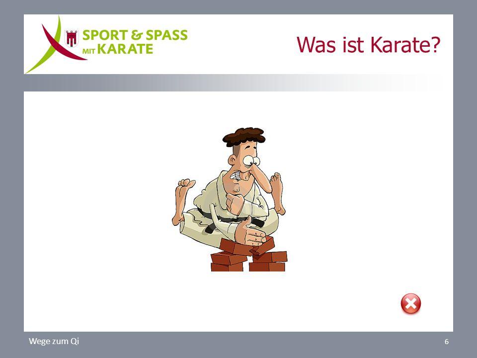 Wege zum Qi 6 Was ist Karate?