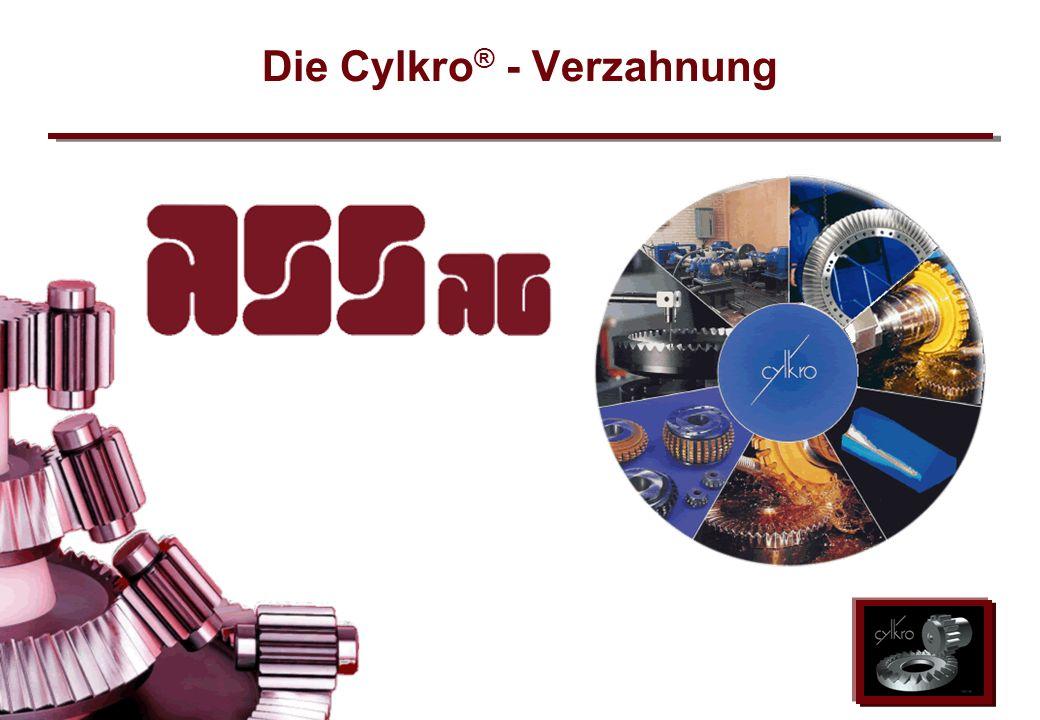 ASS AG 2002 Die Cylkro ® - Verzahnung
