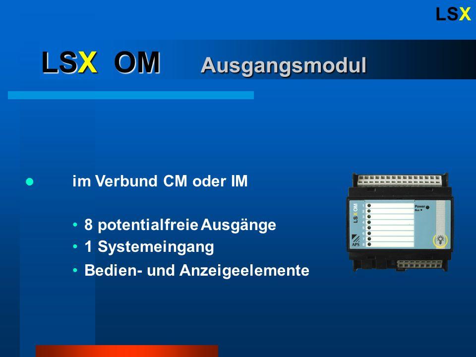 LSX LSX Features Bis 256 Eingänge Bis 256 Ausgänge DCF 77 - Zeitprotokoll Ring-back Funktion Passwortschutz Pikettorganisation Tag-/ Nachtumschaltung Menugeführte Konfiguration Verbindungsdistanz bis >1km