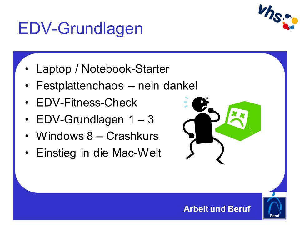 EDV-Grundlagen Laptop / Notebook-Starter Festplattenchaos – nein danke.
