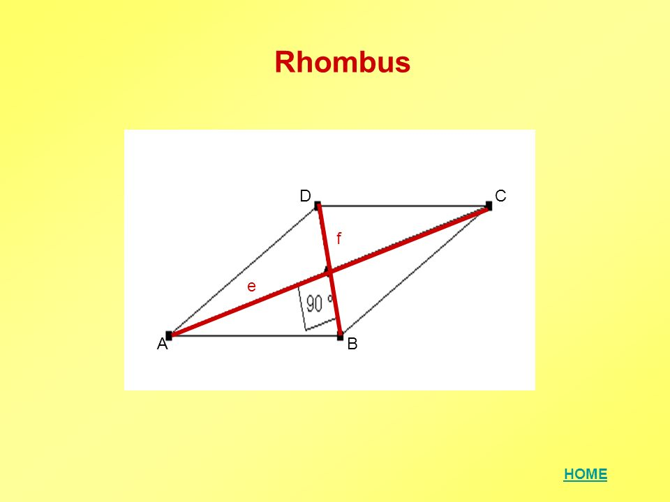HOME Rhombus AB CD e f