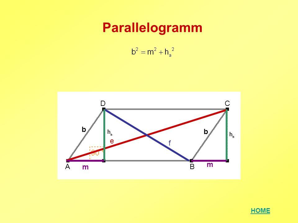 HOME Parallelogramm AB CD e f m m b b