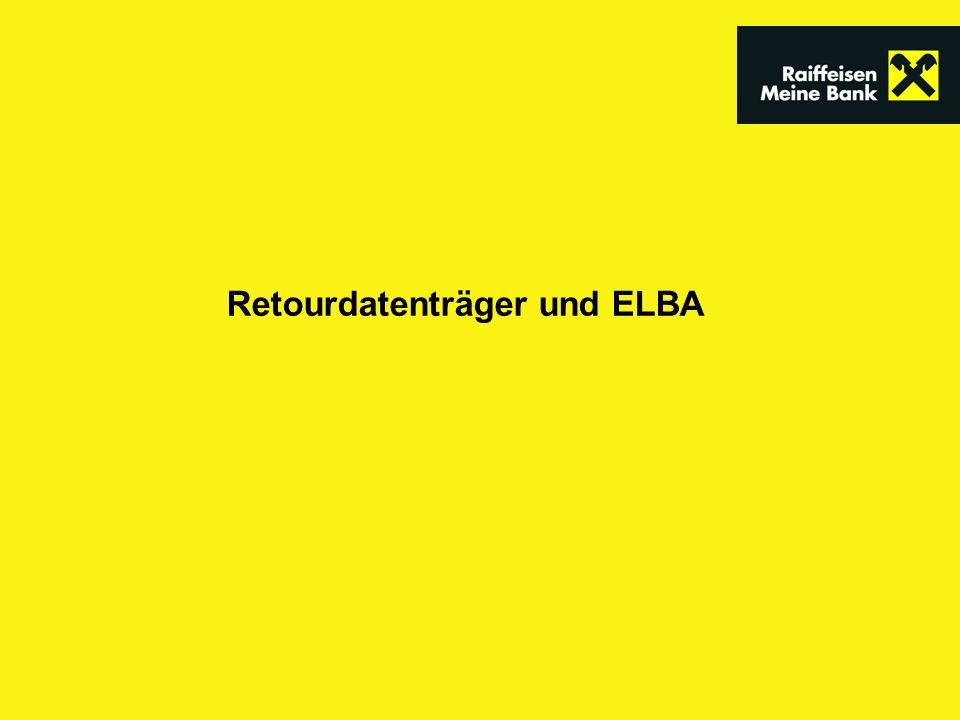 Retourdatenträger und ELBA
