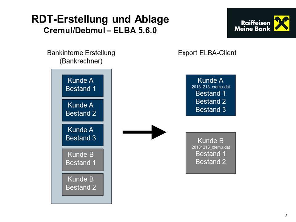 3 RDT-Erstellung und Ablage Cremul/Debmul – ELBA 5.6.0