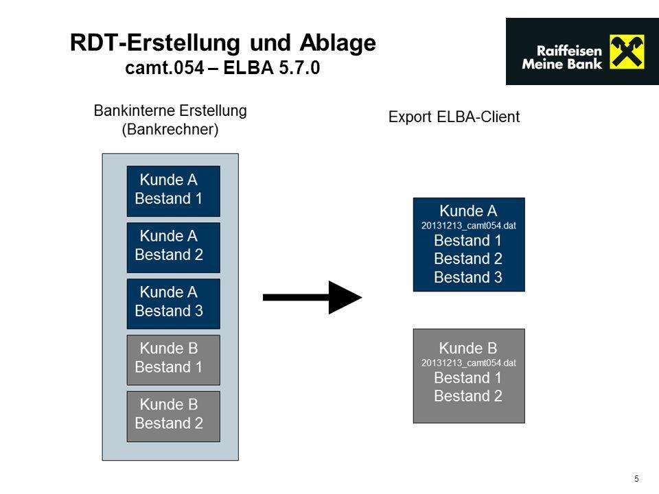5 RDT-Erstellung und Ablage camt.054 – ELBA 5.7.0