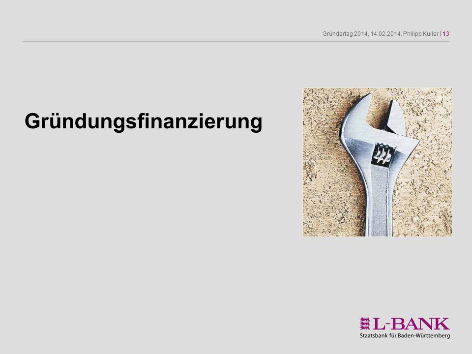 Gründertag 2014, 14.02.2014, Philipp Küller | 13 Gründungsfinanzierung